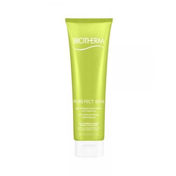 Biotherm purefect skin gel nettoyant assainissant anti-luisances 125 ml
