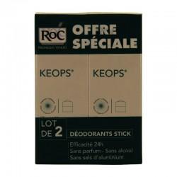 Roc keops stick déodorant 40g x2