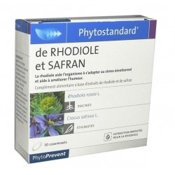 Pileje phytostandard de rhodiole et safran 30 comprimés