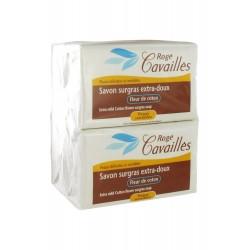 Rogé cavaillès savon surgras extra-doux fleur de coton lot de 3x250g + 1 gratuit