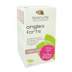 Biocyte ongles forts 3 boites de 40 gélules