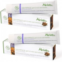 Melvita dentifrice gencives sensibles 2x75ml