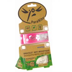 Parakito bracelet anti-moustique rose