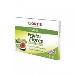 Ortis fruits & fibres transit facile 12 cubes
