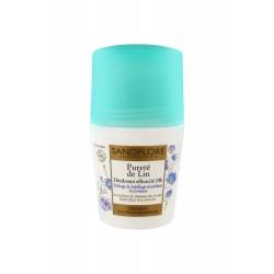Sanoflore pureté de lin déodorant bille 24h 50ml