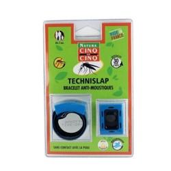 Cinq sur cinq technislap bracelet anti-moustiques bleu