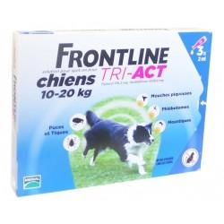 Frontline tri-act chiens 10 à 20kg 3x2ml