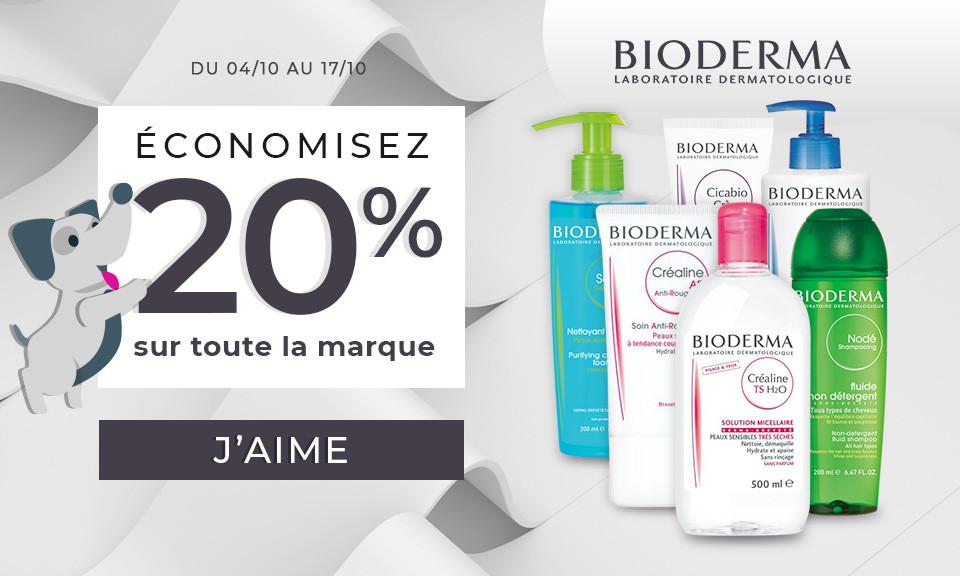 04/10 au 17/10 Bioderma -20%