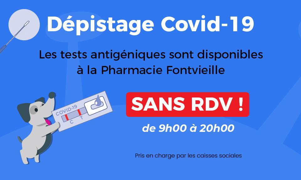 22/07 test antigéniques sans RDV