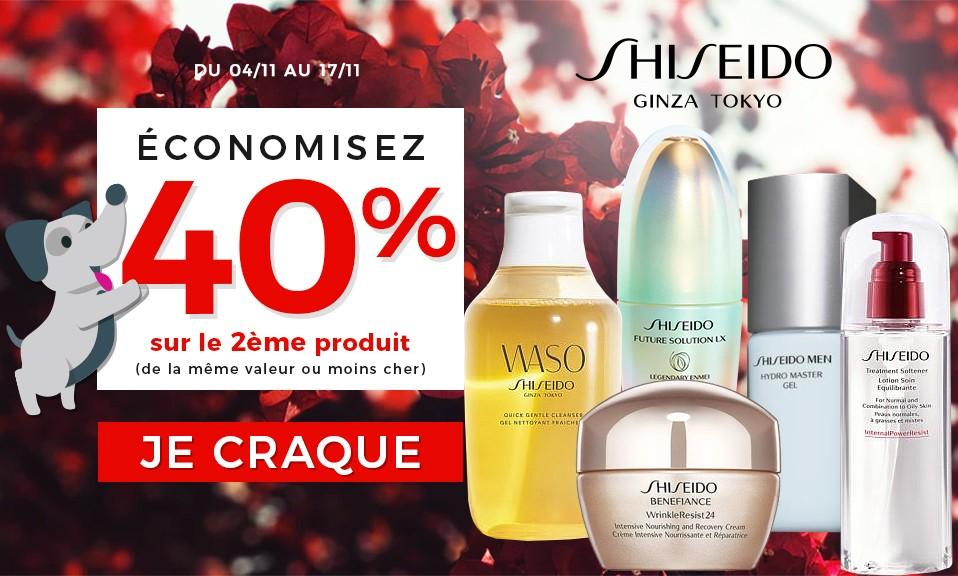 Shiseido -40% 2ème