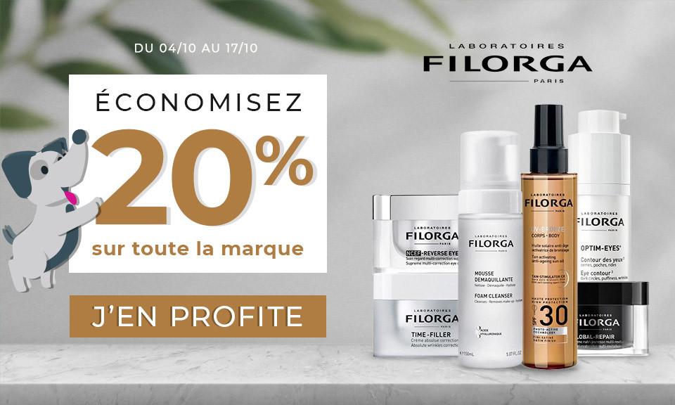 04/10 au 17/10 Filorga -40% sur 2ème